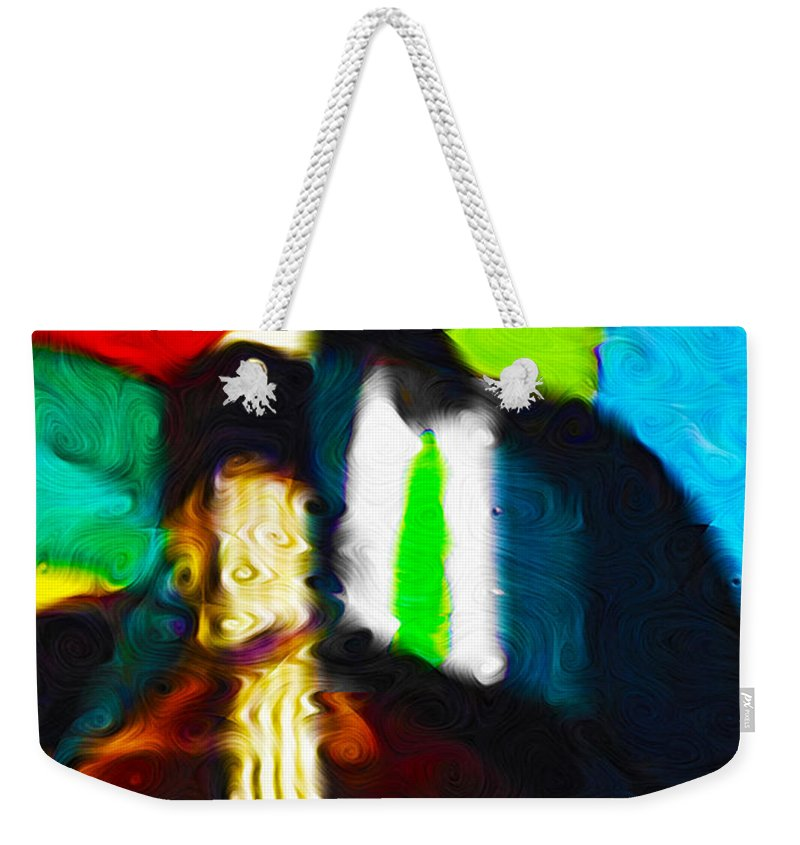 Bass Weekender Tote Bag featuring the photograph Mr. Bassman by Terry Fiala