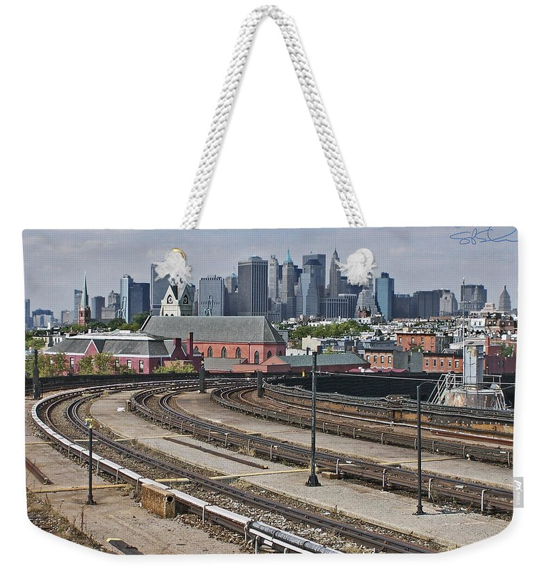 Smith Street Station Weekender Tote Bag featuring the photograph Mta High Point by S Paul Sahm