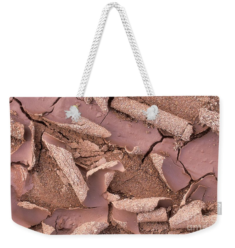 Bronstein Weekender Tote Bag featuring the photograph Mud Curls by Sandra Bronstein