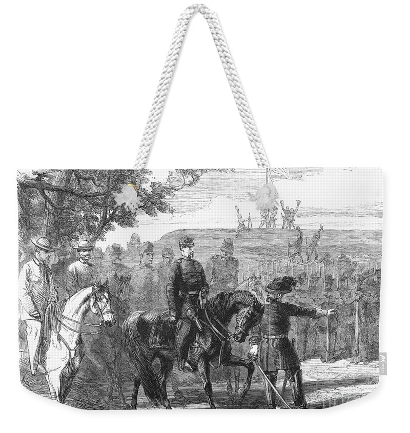 1861 Weekender Tote Bag featuring the photograph Munsons Hill, 1861 by Granger