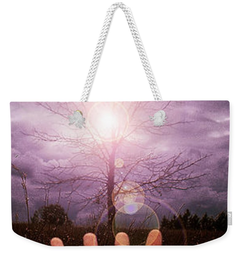 Arm Weekender Tote Bag featuring the photograph My Arm And Hand 40 Years Ago by Mike Nellums
