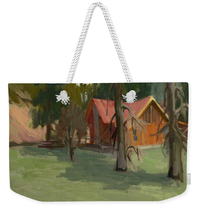 Farm Weekender Tote Bag featuring the painting My Farm by Diane McClary