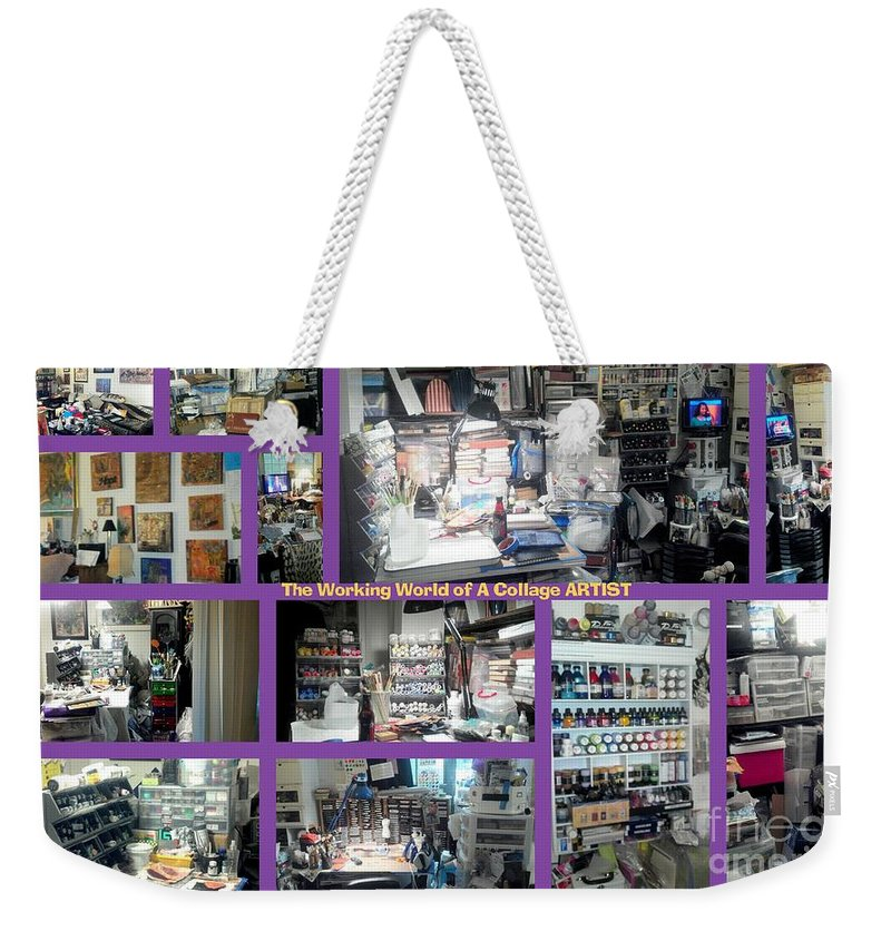 Art Studio Weekender Tote Bag featuring the photograph My Humble Abode And Studio by Angela L Walker