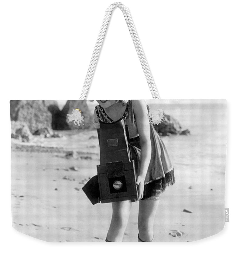 1919 Weekender Tote Bag featuring the photograph Myrtle Lind (1901-1966) by Granger
