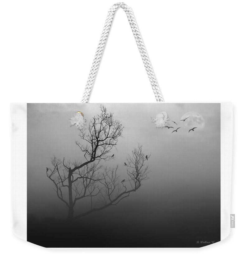 Myst-eerie-us Weekender Tote Bag featuring the photograph Myst-eerie-us by Brian Wallace
