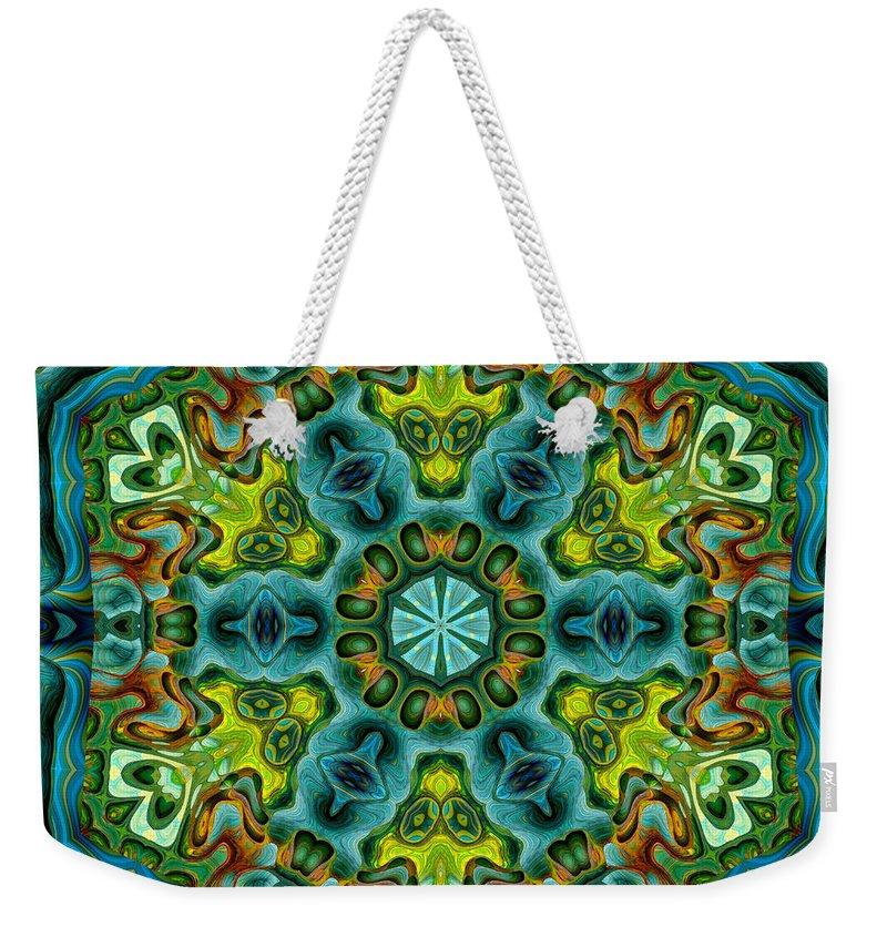 Kaleidoscope Weekender Tote Bag featuring the digital art Mysteries 01 by Aimelle