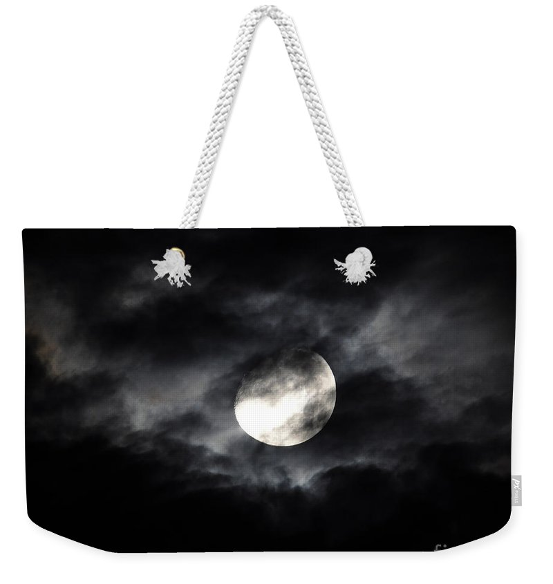 Moon Weekender Tote Bag featuring the photograph Mystic Moon by Al Powell Photography USA