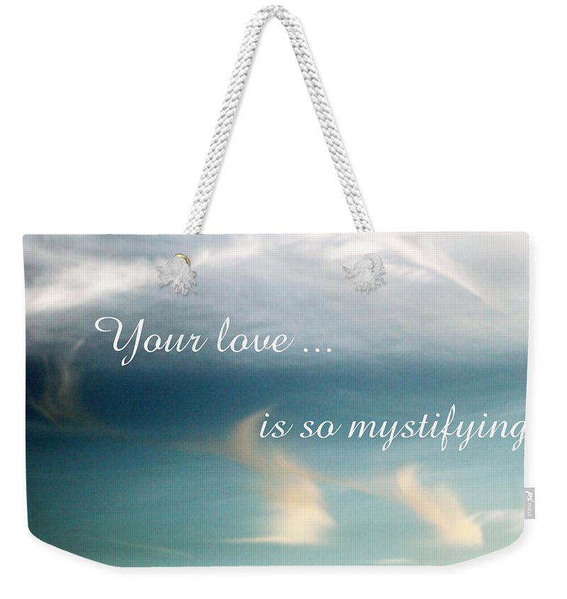 Card Weekender Tote Bag featuring the photograph Mystifying by Deborah Crew-Johnson