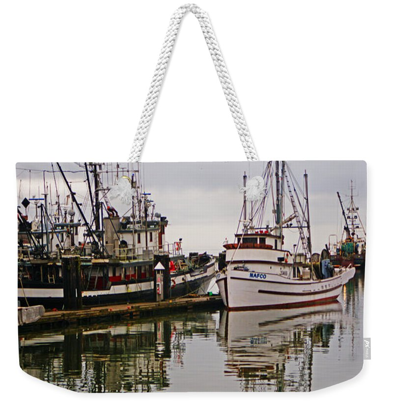 Fishing Boats Weekender Tote Bag featuring the photograph Nafco Fishing Boat by Randy Harris