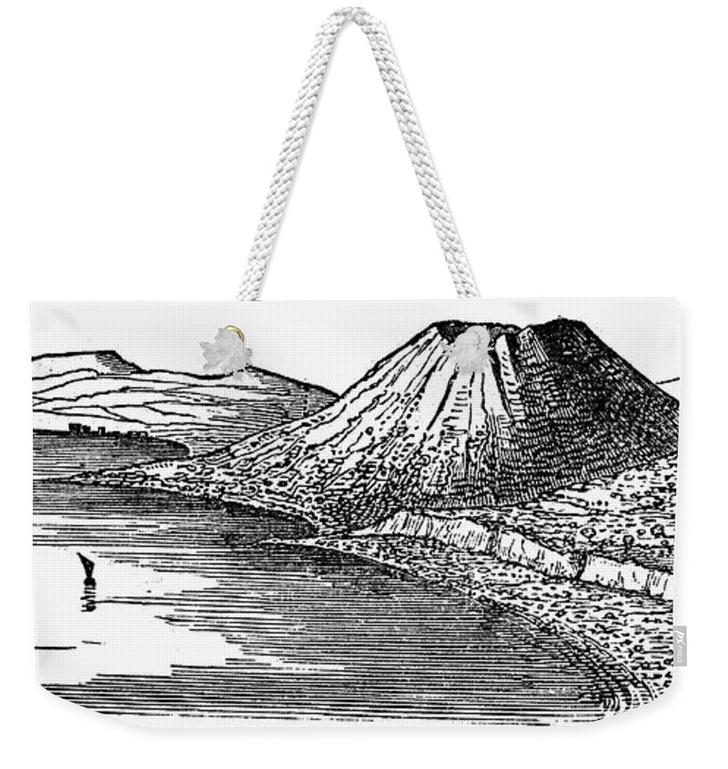 1887 Weekender Tote Bag featuring the photograph Naples: Monte Nuovo, 1887 by Granger