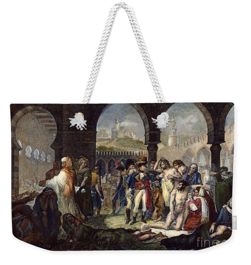 1799 Weekender Tote Bag featuring the photograph Napoleon In Jaffa, 1799 by Granger