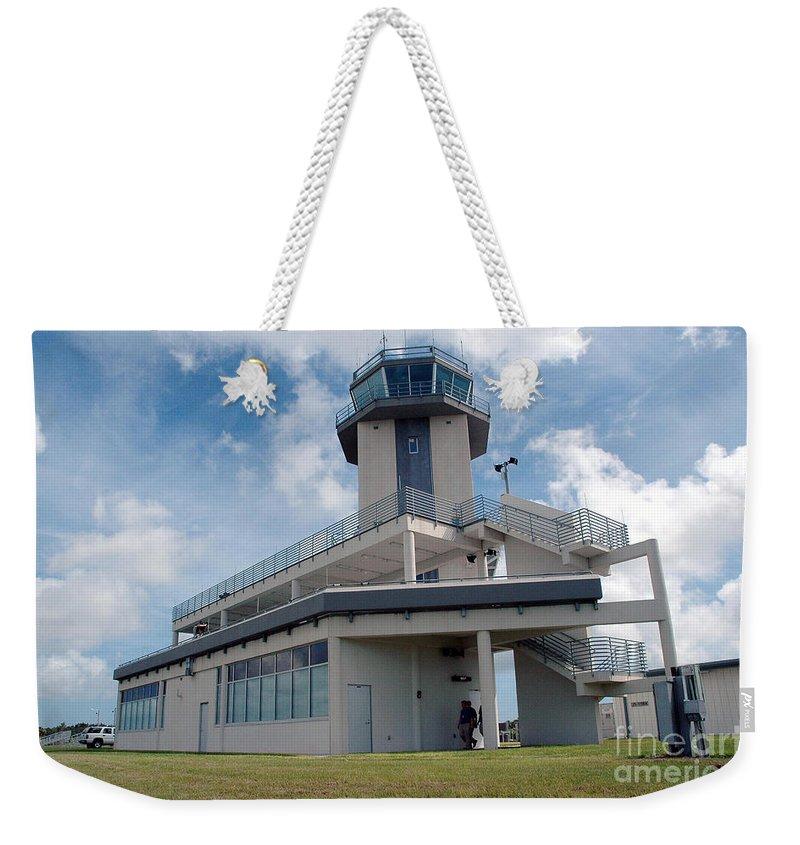 Air Traffic Control Tower Weekender Tote Bag featuring the photograph Nasa Air Traffic Control Tower by Nasa