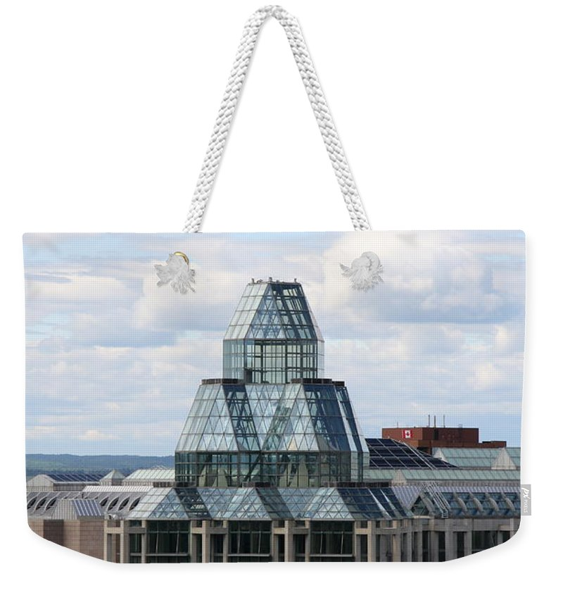 National Gallery Of Canada Weekender Tote Bag featuring the photograph National Gallery Of Canada - Ottawa by Christiane Schulze Art And Photography