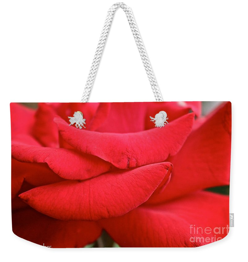 Garden Weekender Tote Bag featuring the photograph Natural Red Carpet by Susan Herber