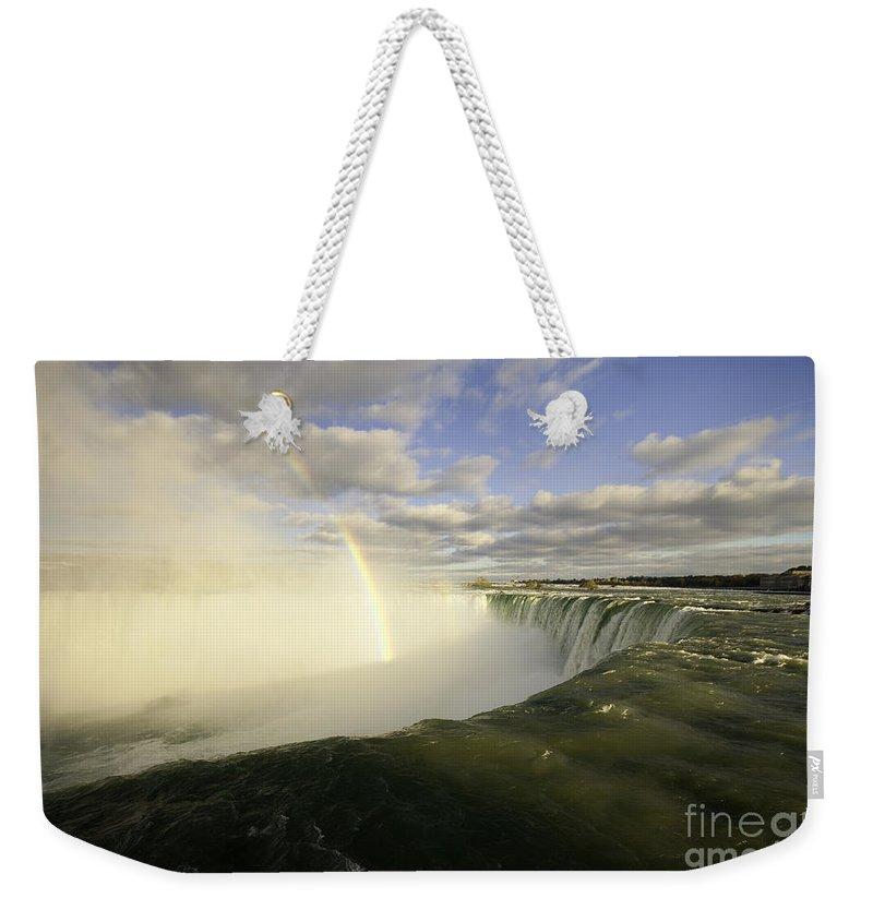 Niagara Weekender Tote Bag featuring the photograph Natural Wonder by Rob Hawkins