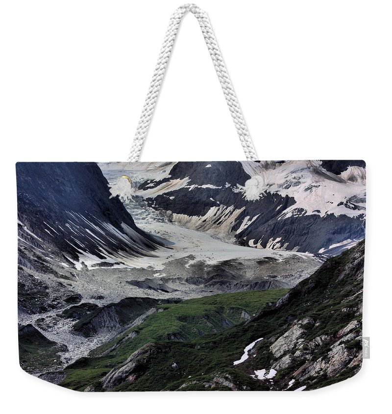 Juneau Weekender Tote Bag featuring the photograph Nature's Abstract by Kristin Elmquist