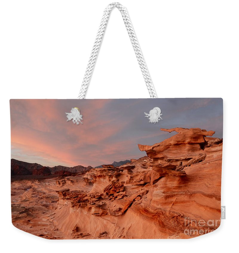 Little Finland Weekender Tote Bag featuring the photograph Natures Artistry At Little Finland by Bob Christopher