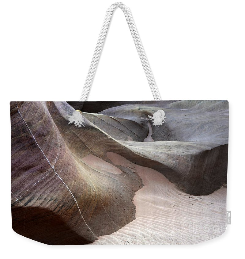 Valley Of Fire Weekender Tote Bag featuring the photograph Nature's Artistry In Stone by Bob Christopher