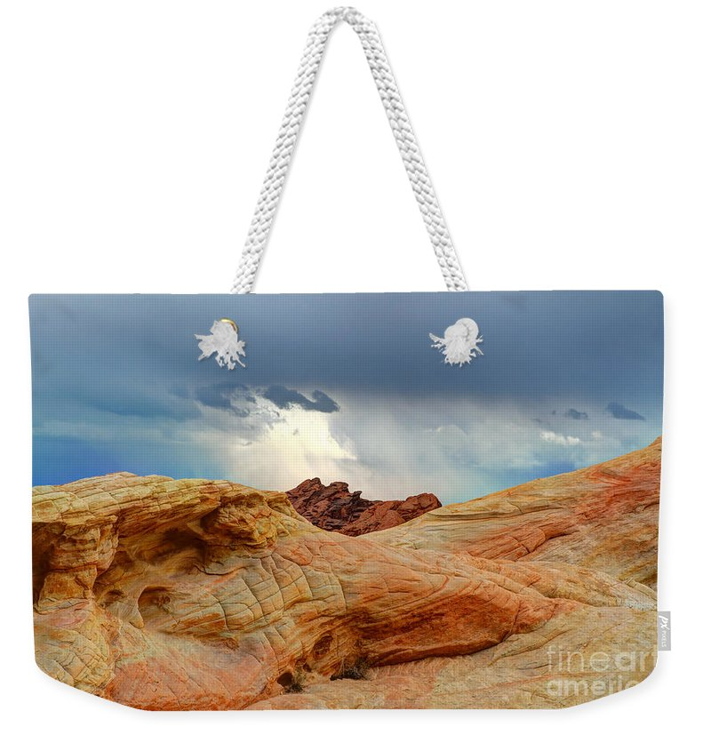 Valley Of Fire Weekender Tote Bag featuring the photograph Natures Wonders by Vivian Christopher