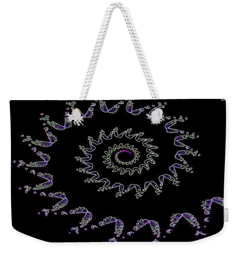 Nautilus Weekender Tote Bag featuring the digital art Nautilus Fractal by David Pyatt