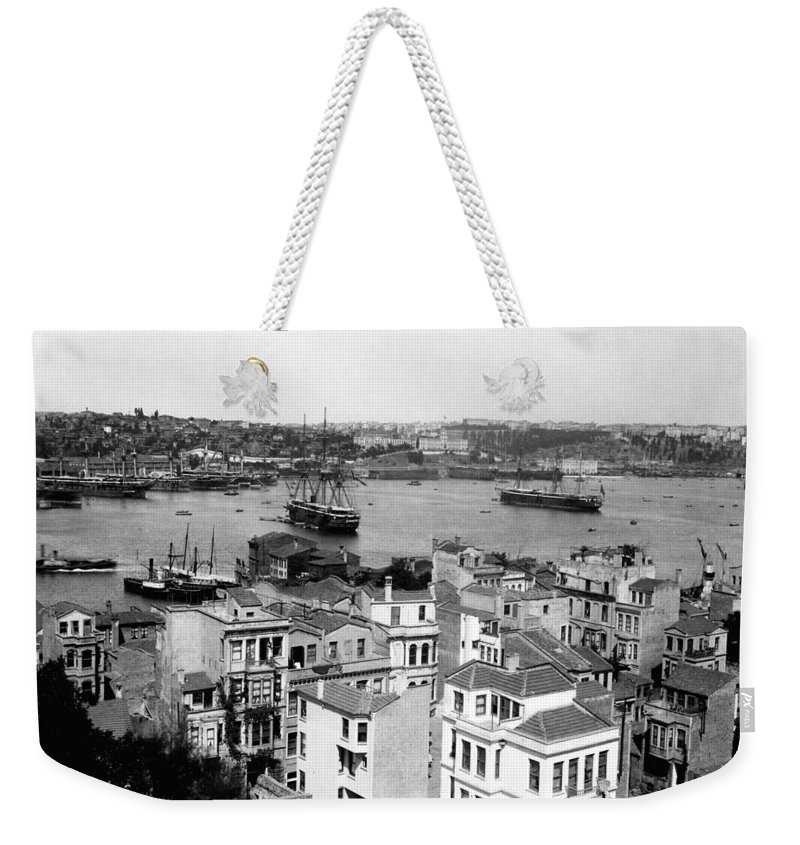 naval Arsenal Weekender Tote Bag featuring the photograph Naval Arsenal And The Golden Horn - Ottoman Empire - Turkey by International Images