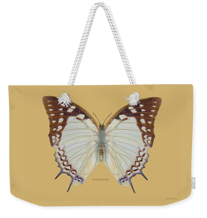 Nawab Butterfly Weekender Tote Bag featuring the digital art Nawab Butterfly by Walter Colvin