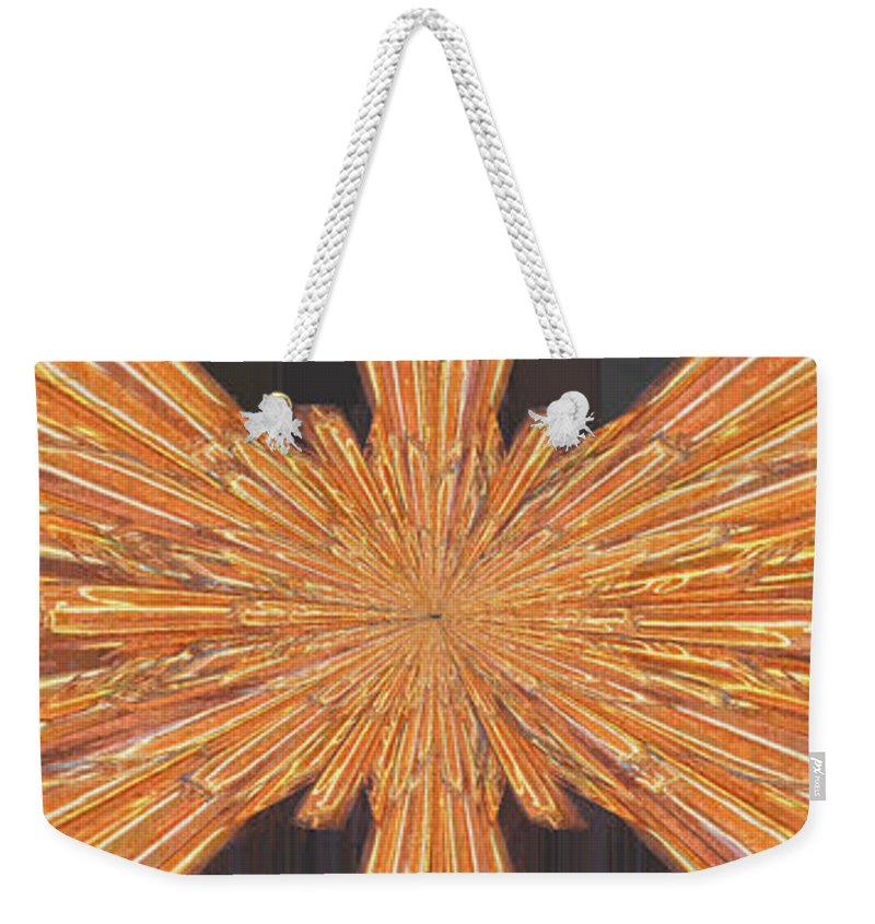 Neon Weekender Tote Bag featuring the digital art Neon On The Night by Tim Allen