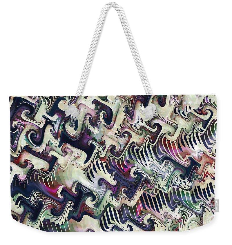 Fractal Weekender Tote Bag featuring the digital art Neural Correlate by Richard Kelly