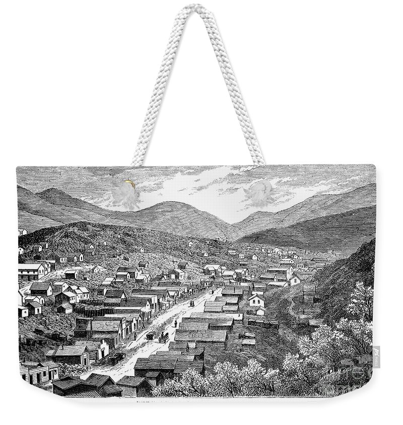 1880 Weekender Tote Bag featuring the photograph Nevada: Austin, C1880 by Granger