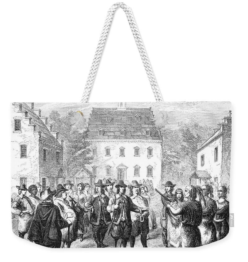 1660 Weekender Tote Bag featuring the photograph New Amsterdam, 1660 by Granger