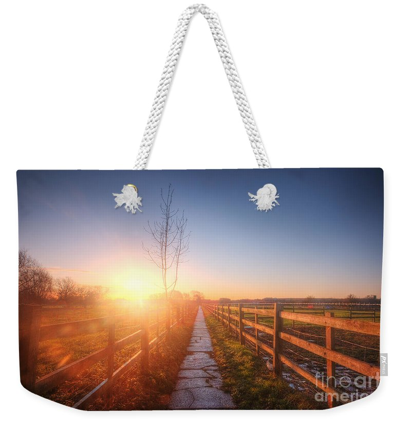 Landscape Weekender Tote Bag featuring the photograph New Beginning by Yhun Suarez