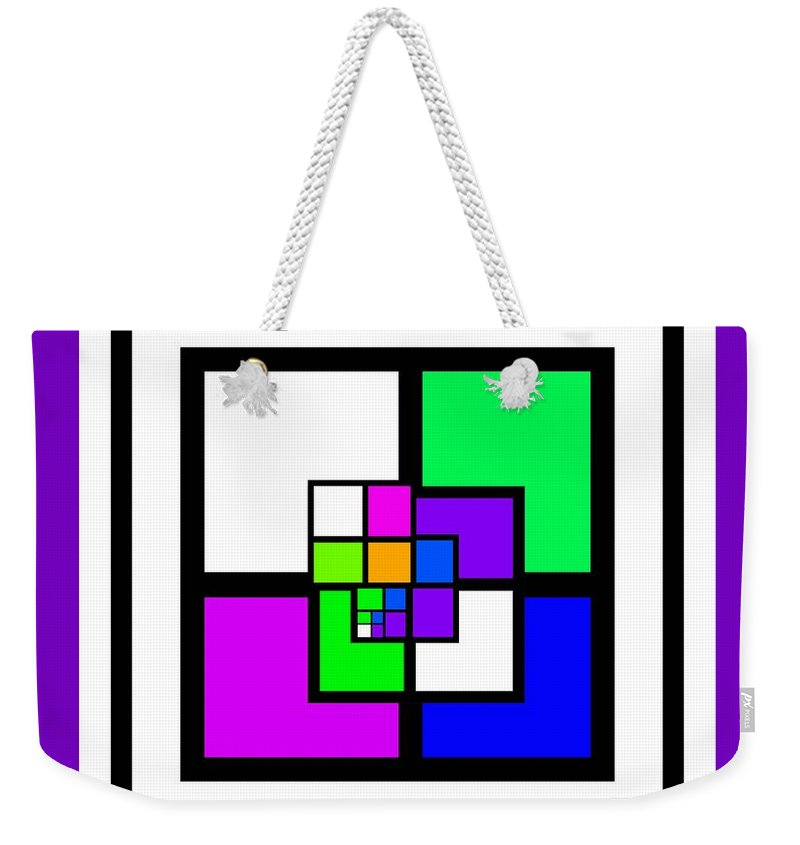 Cote Weekender Tote Bag featuring the painting New Color Way by Charles Stuart