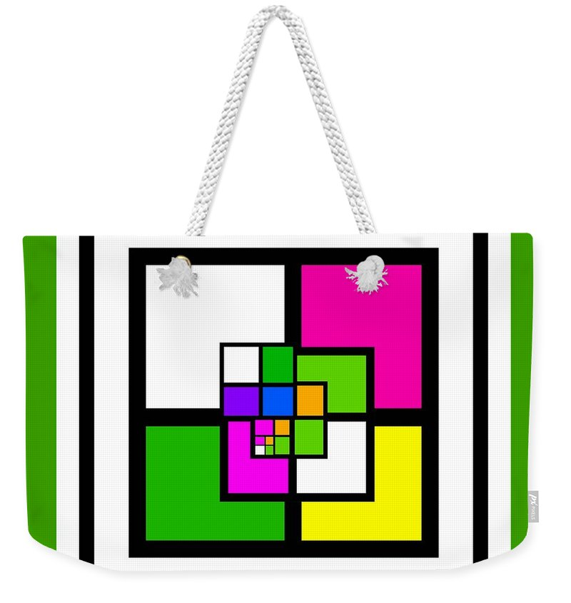 Cote Weekender Tote Bag featuring the painting New Green by Charles Stuart