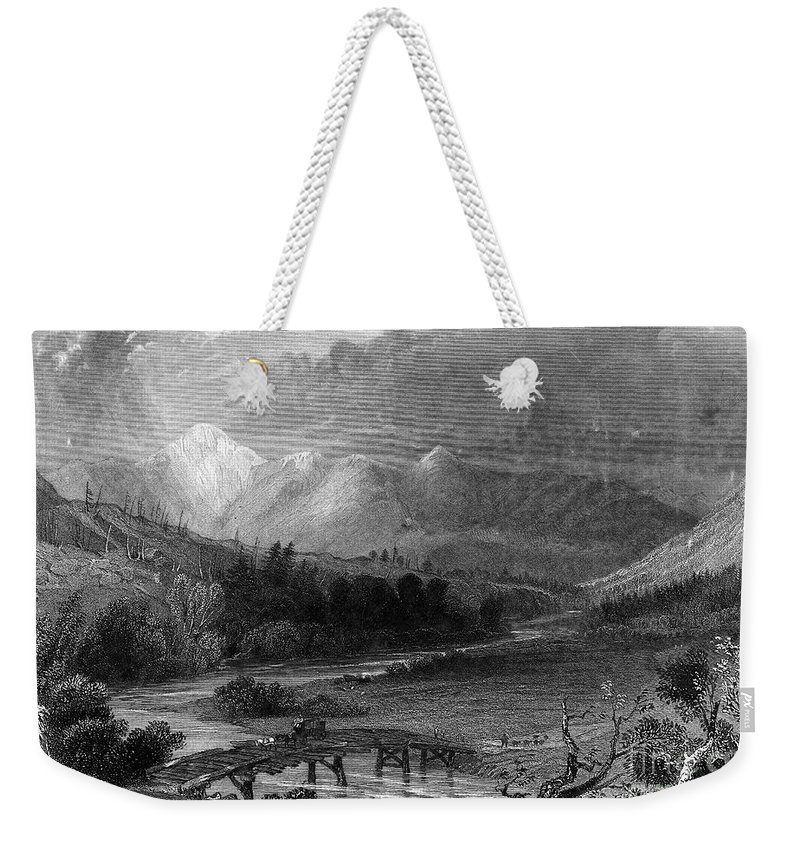 1838 Weekender Tote Bag featuring the photograph New Hampshire, 1838 by Granger