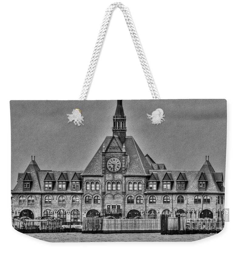 New Jersey Weekender Tote Bag featuring the photograph New Jersey Terminal by Bill Lindsay