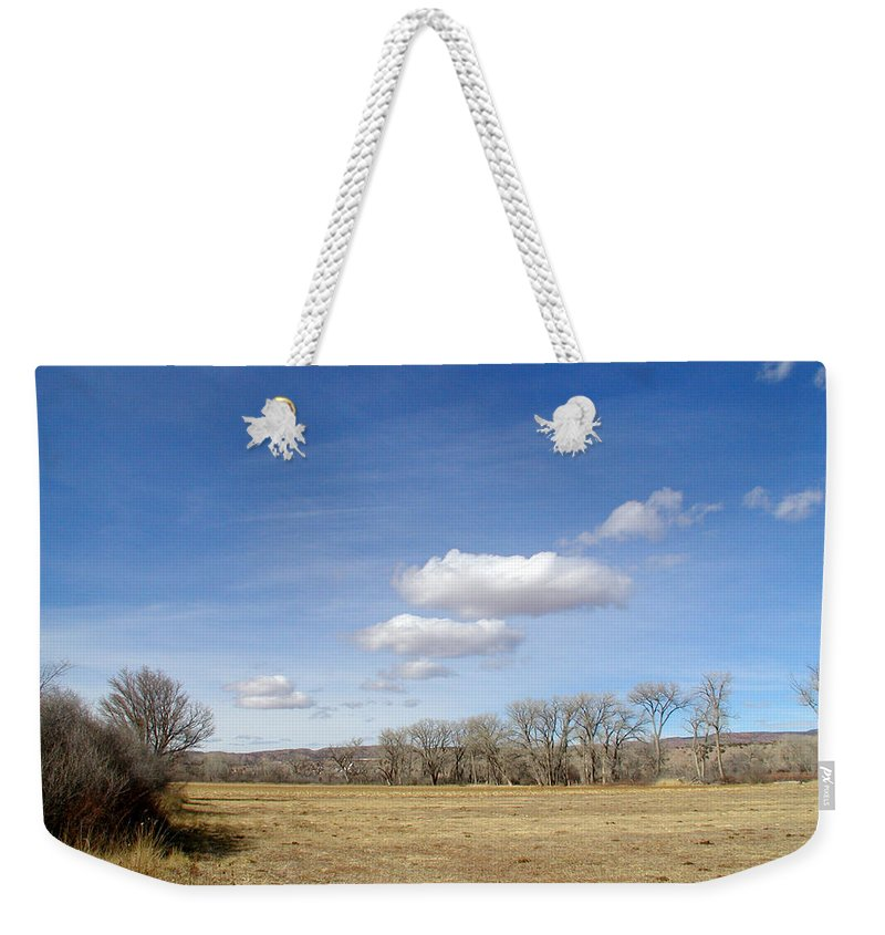 New Mexico Weekender Tote Bag featuring the photograph New Mexico Series - The Long View by Kathleen Grace