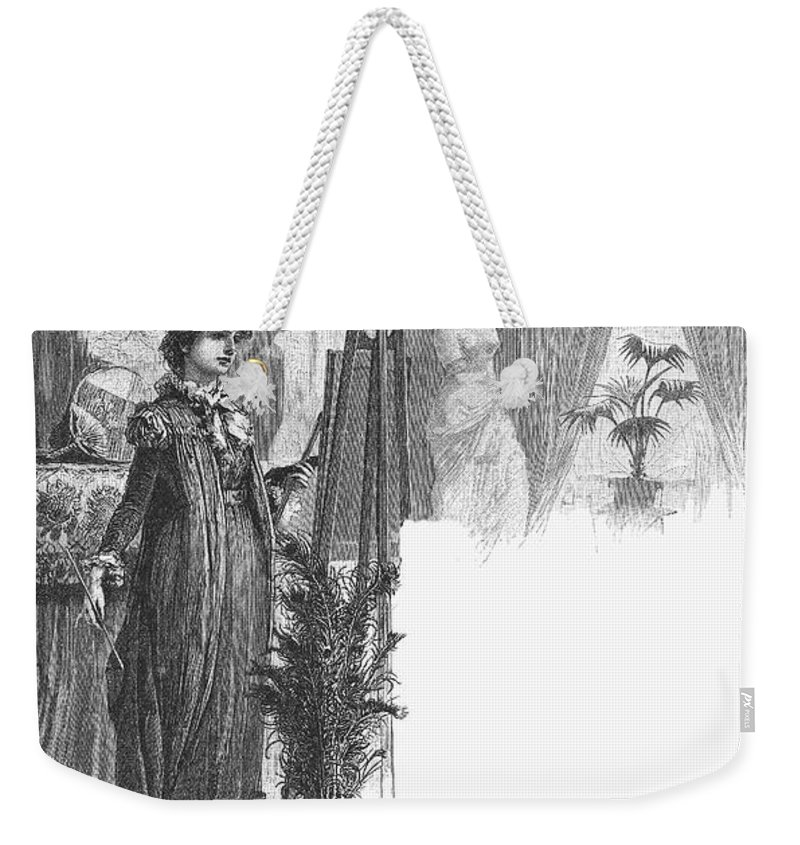 1882 Weekender Tote Bag featuring the photograph New York: Artist, 1882 by Granger