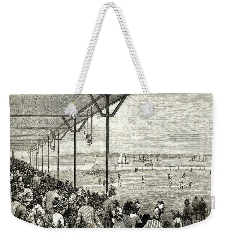 1886 Weekender Tote Bag featuring the photograph New York: Baseball, 1886 by Granger
