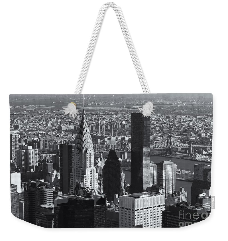 Clarence Holmes Weekender Tote Bag featuring the photograph New York City Esb View II by Clarence Holmes