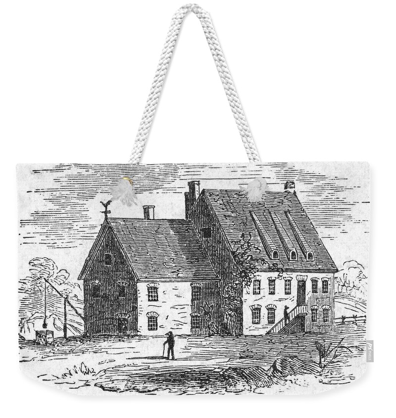17th Century Weekender Tote Bag featuring the photograph New York: Jacobus Kip by Granger