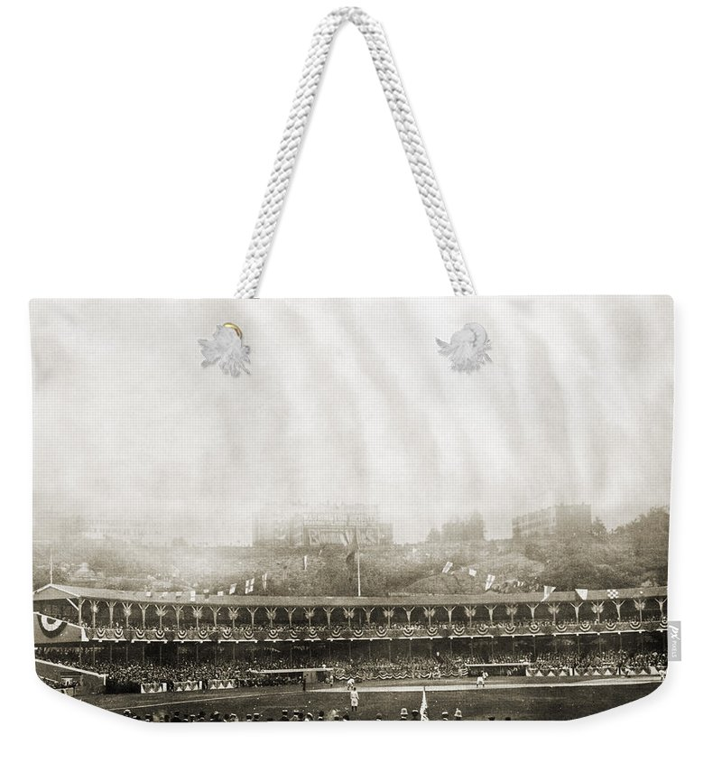 1906 Weekender Tote Bag featuring the photograph New York: Polo Grounds by Granger