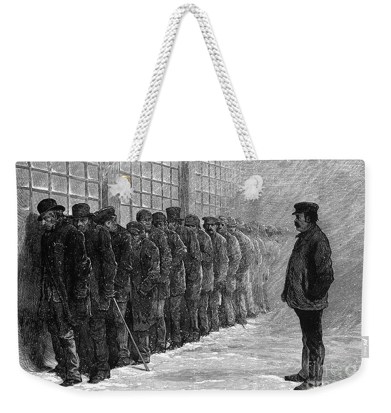 1875 Weekender Tote Bag featuring the photograph New York: Poorhouse, 1875 by Granger