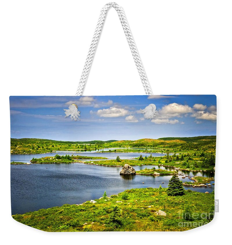 Lakeshore Weekender Tote Bag featuring the photograph Newfoundland Landscape by Elena Elisseeva