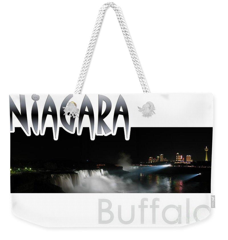 Niagara Weekender Tote Bag featuring the photograph Niagara At Night by Syed Aqueel