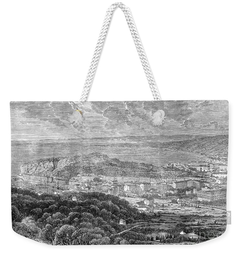 1863 Weekender Tote Bag featuring the photograph Nice, France, 1863 by Granger