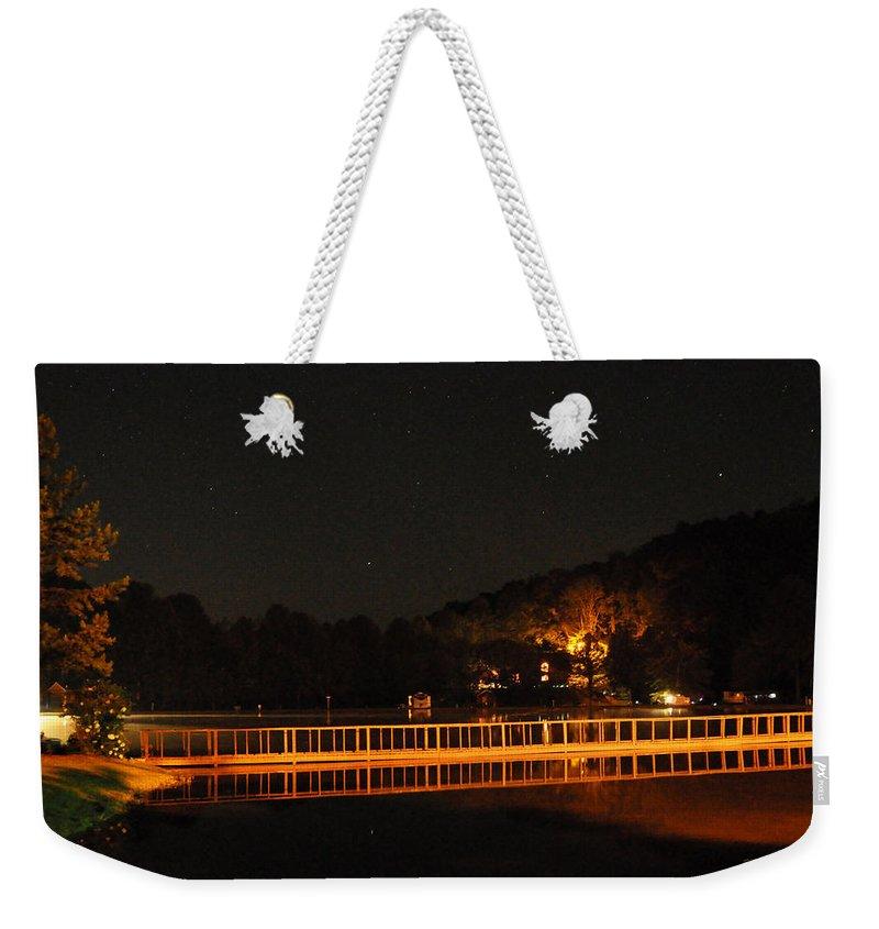 Bridge Weekender Tote Bag featuring the photograph Night Bridge by Kay Lovingood