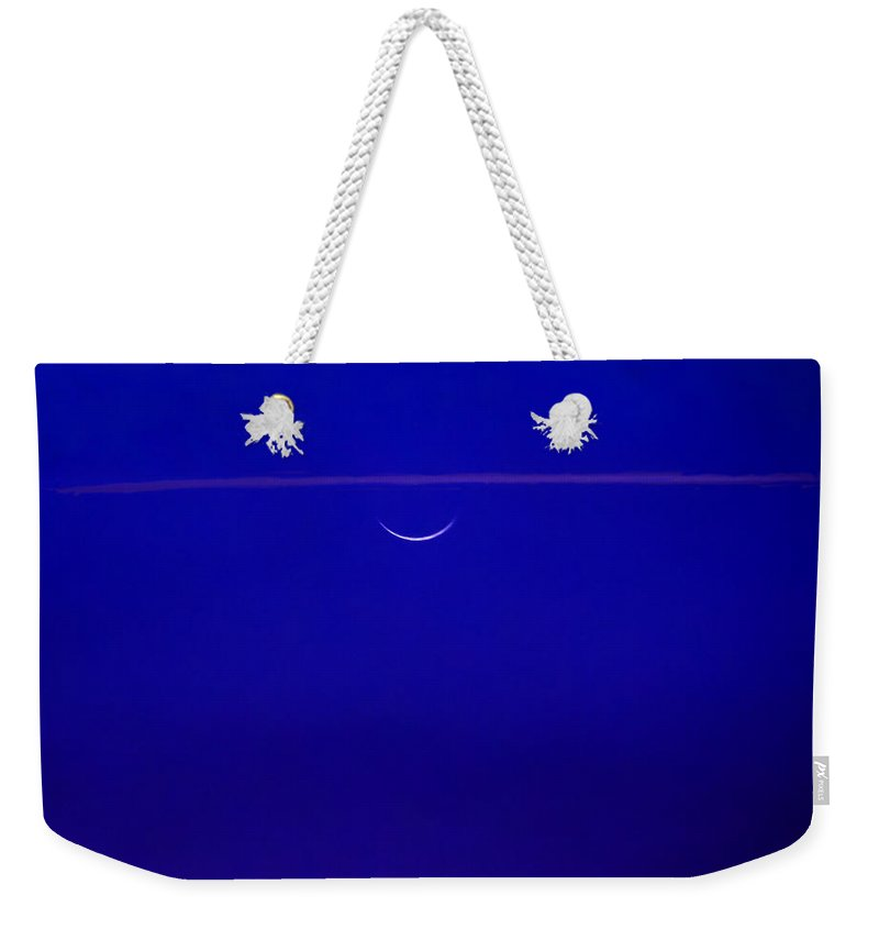 Moon Weekender Tote Bag featuring the photograph Night Cap by Roger Wedegis