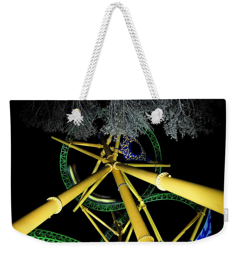 Cheetah Hunt Ride Weekender Tote Bag featuring the photograph Night Cheetah by David Lee Thompson