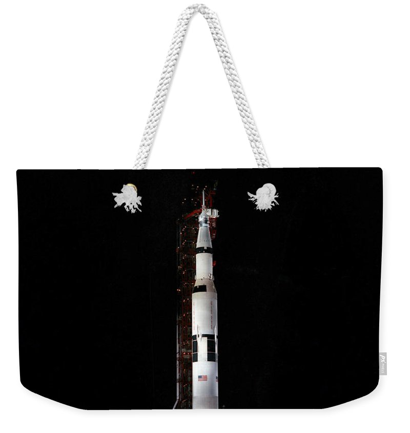 1969 Weekender Tote Bag featuring the photograph Nighttime View Of The Apollo 10 Space by Stocktrek Images