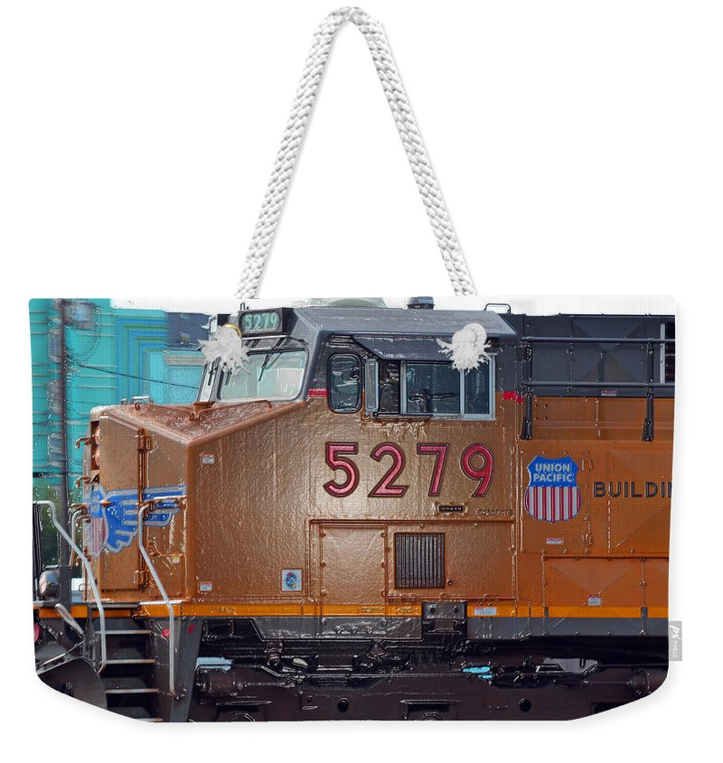 Drop Pits Weekender Tote Bag featuring the photograph No. 5279 by Bill Owen
